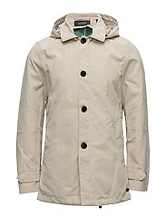 Trench coat in bonded with detachable hood and parka - SAND