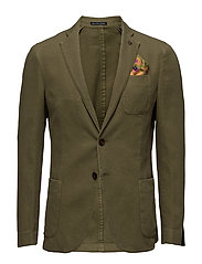 Garment dyed blazer in structured - MILITARY
