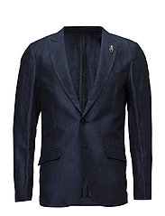 Classic blazer in structured cotton/ linen - COMBO B
