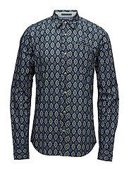 Longsleeve shirt in lightweight crispy poplin - COMBO E