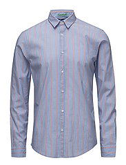 Longsleeve shirt in crispy poplin with special yarn - COMBO A