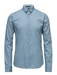 Longsleeve shirt in structured cotton with all-over - COMBO C