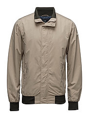 Classic bomber jacket in nylon - SAND