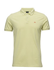 Garment dyed polo in pique - FLASH YELLOW