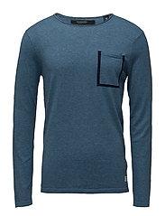 Crewneck pullover - WORKER BLUE MELANGE