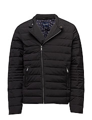 Lightweight quilted jacket with real down filling - BLACK