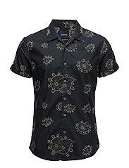 Short sleeve regular fit shirt with hawaian collar - COMBO B