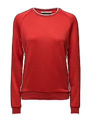 Sporty sweat with stripe details at body - INDIGOCORAL RED