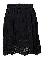 Viscose skirt with special cut out embroideries