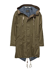 Ams Blauw oversized utility parka with blanket and chambray - MILITARY GREEN