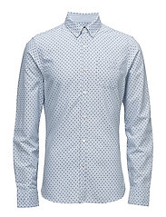 Ams Blauw slim fit allover printed shirt in seasonal pattern - COMBO C