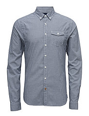 Lightweight brushed flannel shirt with workwear elements - COMBO B