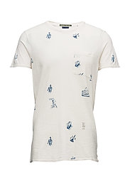 Ams Blauw allover print tee with regular fit - COMBO C