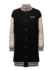Wool bomber longer length jacket - INDIGOCOMBO A