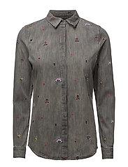 Allover embroidered shirt - INDIGOCOMBO B
