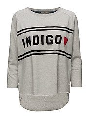 Soft sweat with indigo chest artwork - INDIGOGREY MELANGE