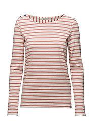Basic fit breton stripe L/S tee - INDIGOCOMBO B