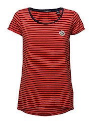 S/s tee in various stripes - INDIGOCOMBO A