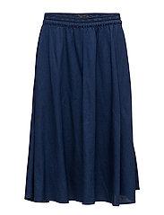 Drapy indigo skirt - INDIGO