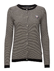 Basic cardigan in cotton cashmere blend - INDIGOCOMBO A