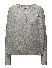Loose fitted cardigan - INDIGOGREY MELANGE