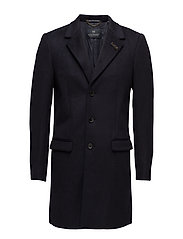 Classic three-button coat in wool blenquality - NIGHT MELANGE