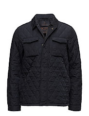 Lightweight quilteshirt jacket in nylon quality - NIGHT