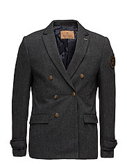 Double breasted director's blazer in wool quality - COMBO B