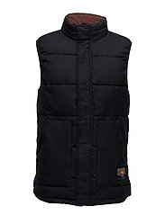 Quilted bodywarmer in wool quality - COMBO B