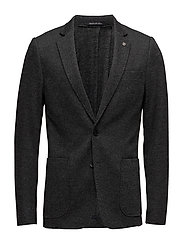 Classic knitted blazer in yarn dyed pattern - COMBO A