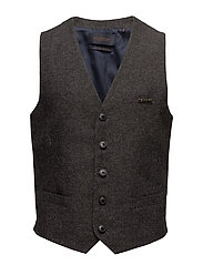 Classic Gilet In Neps Wool Quality Scotch & Soda Suits & Blazers