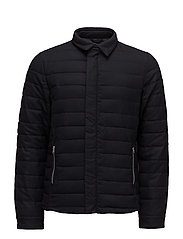 Short quilted jacket in wool-blend quality - NIGHT