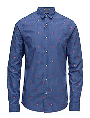 Longsleeve shirt with all-over embroidery - COMBO C