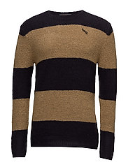 Crewneck pullover in brushed merino wool blend quality - COMBO B