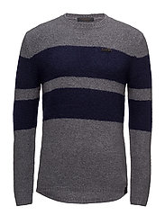 Crewneck pullover in brushed merino wool blend quality - COMBO D