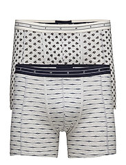 Boxer in light grey  with all-over print - COMBO A
