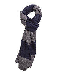Scarf in brushed wool blend quality and block stripe pattern - COMBO D
