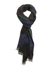 Lightweight woven scarf in multicolour stripe pattern - COMBO A