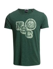 Crew-neck naps tee with different college prints - 600 green melange