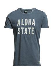 Aloha state crewneck tee - 53 worker blue