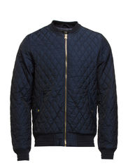 Quilted bomber jacket in nylon quality - 58 night