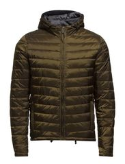 Basic hooded quilted jacket - 65 military