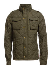 Military inspired quilted nylon jacket - 65 military