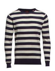 Striped crewneck pull - dessin F