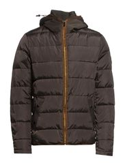 Quilted nylon jacket with oxford nylon hood - 66 army