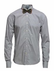 Longsleeve shirt in mix & match, Sold with bow-tie - dessin A