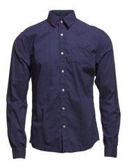 Crispy poplin longsleeve shirt with print contrast details - dessin D