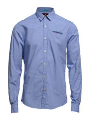 Crispy poplin shirt with fixed pocket, Sold with sleeve co. - dessin A