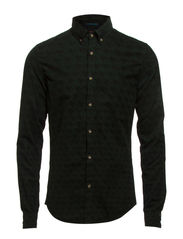 Printed baby corduroy button down shirt - dessin C
