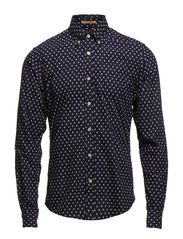 Button down oxford shirt, Sold with sleeve collectors - dessin A
